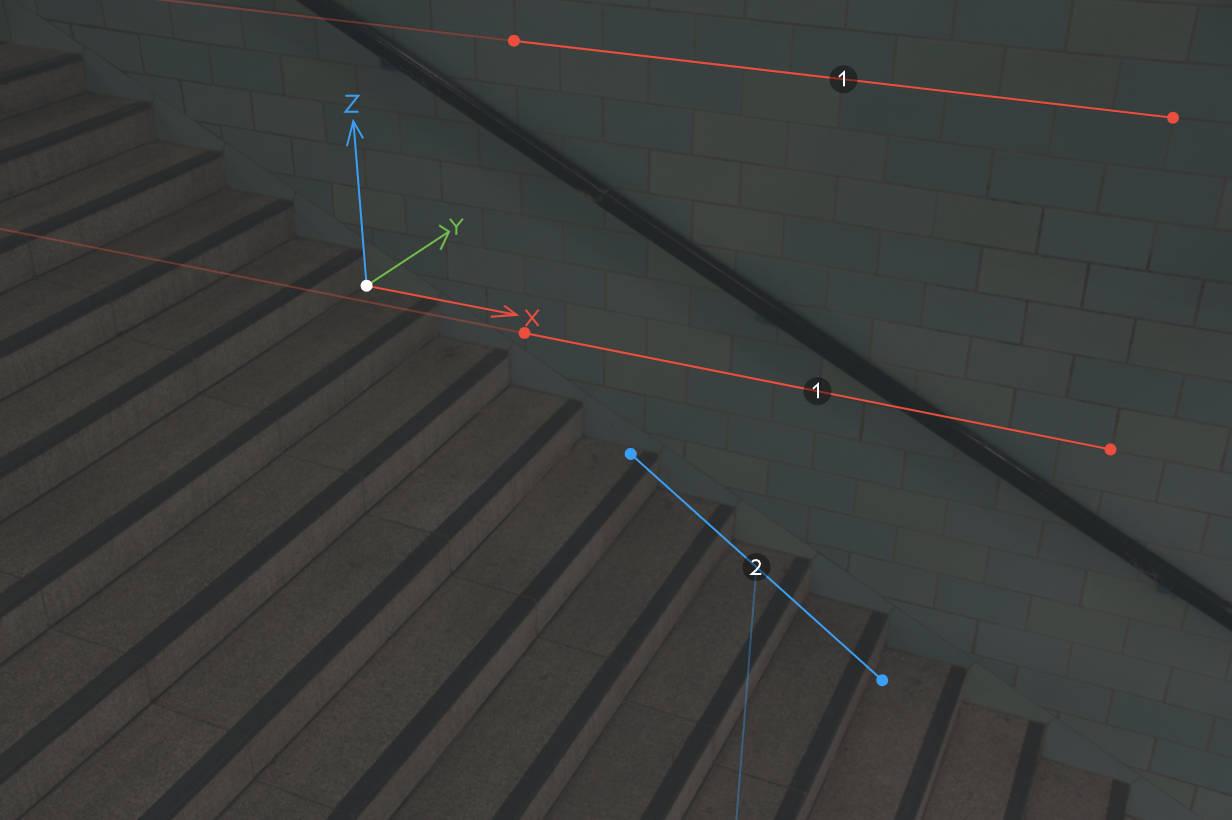 Single vanishing point calibration